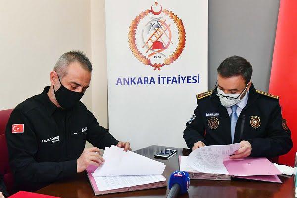 Arama Kurtarmalarda Ankara İtfaiyesi ve ANDA İşbirliği
