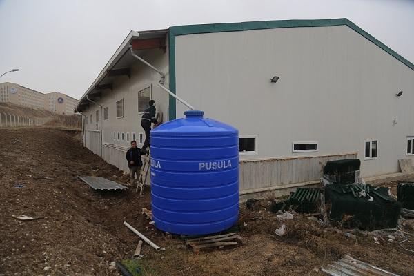 Gölbaşı Belediyesi Yağmur Sularını Depolamaya Başladı
