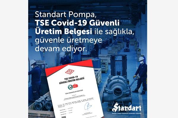 "Standart Pompa'ya ""TSE COVID-19 Güvenli Üretim Belgesi"""